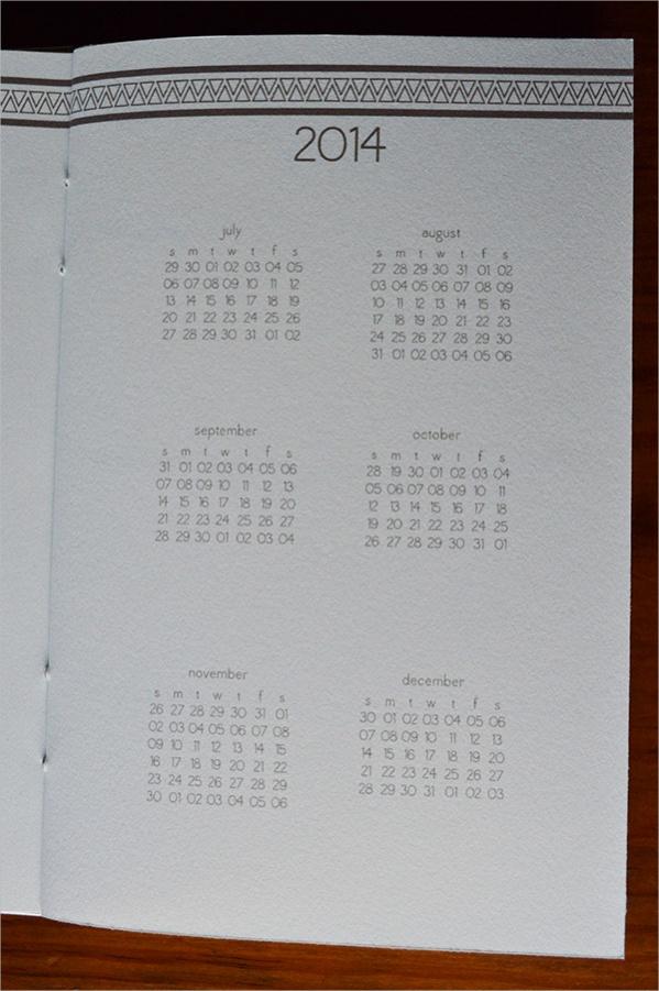 Fully Editable Daily calendar
