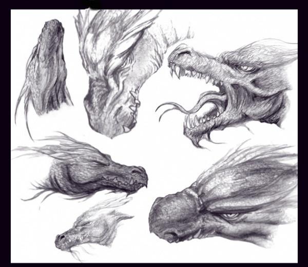 Fully Editable Dragon Brushes