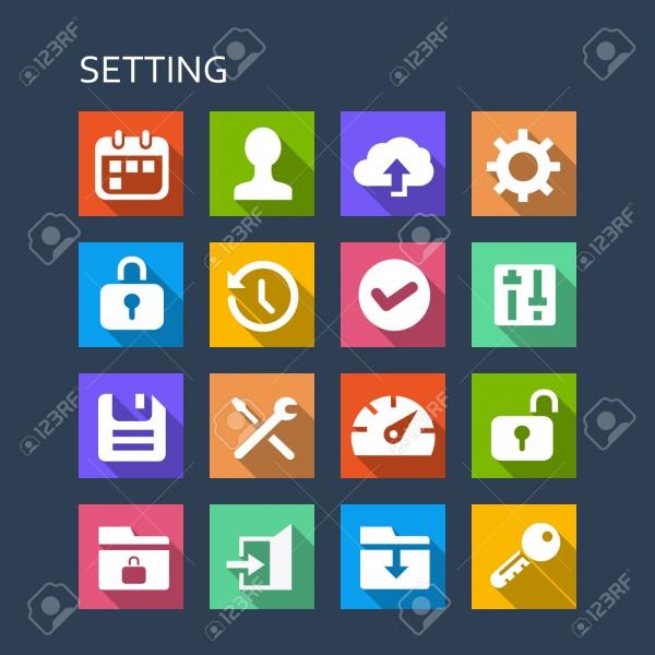 Fully Editable Setting Icons