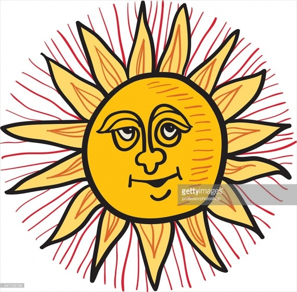 Fully Editable Sun Clipart Design