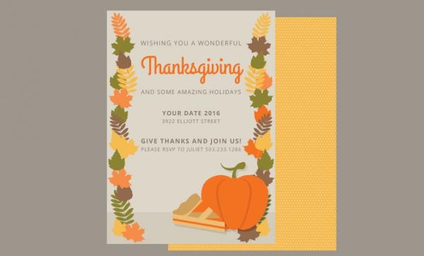 fully editable thanksgiving card