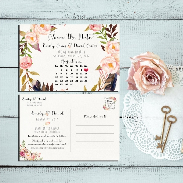 Fully Editable Wedding Calendar