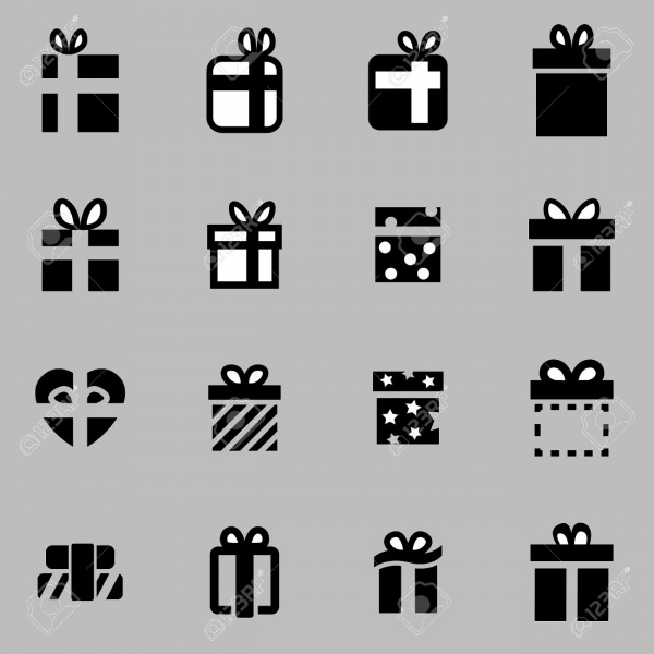 Gift Icons of Anniversary