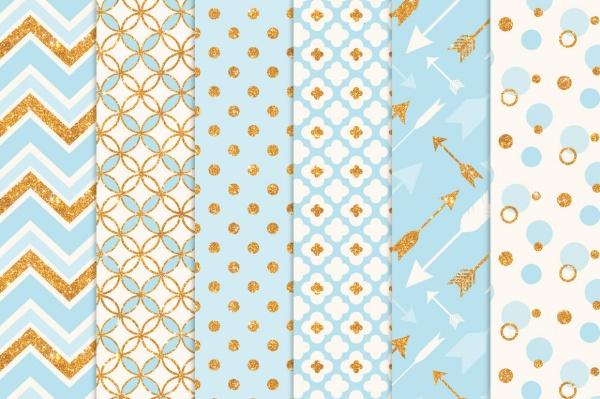 Glitter Design Bohemain Vector Patttern
