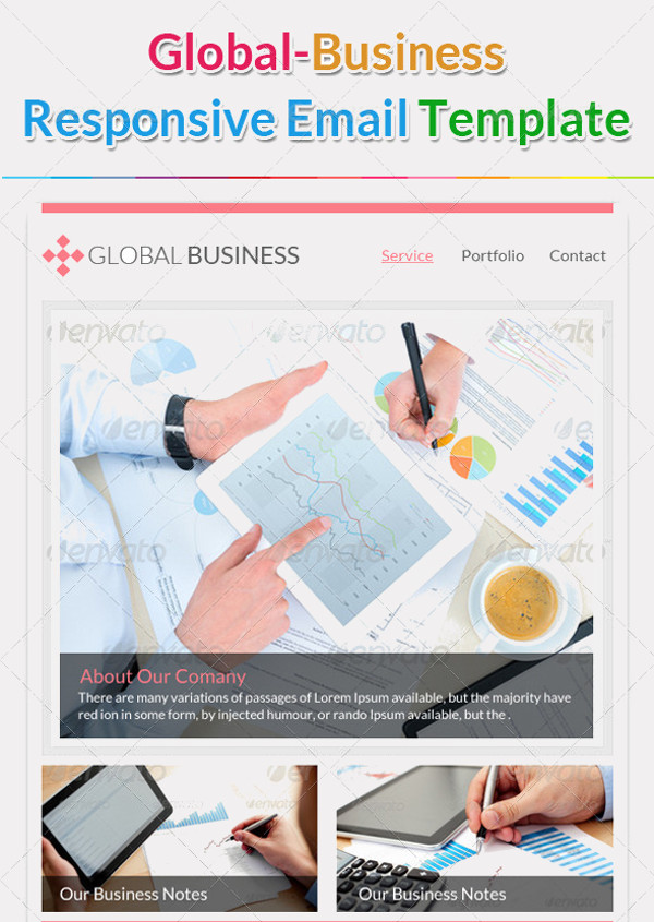 Global Business Email Template