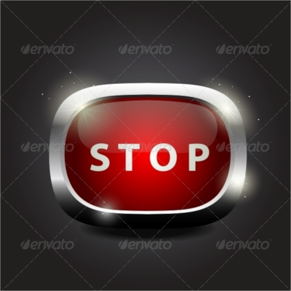Glossy Stop Buttons