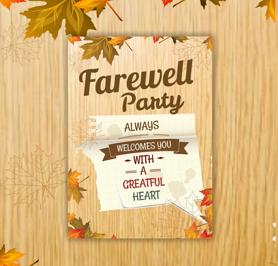 going away party invitation