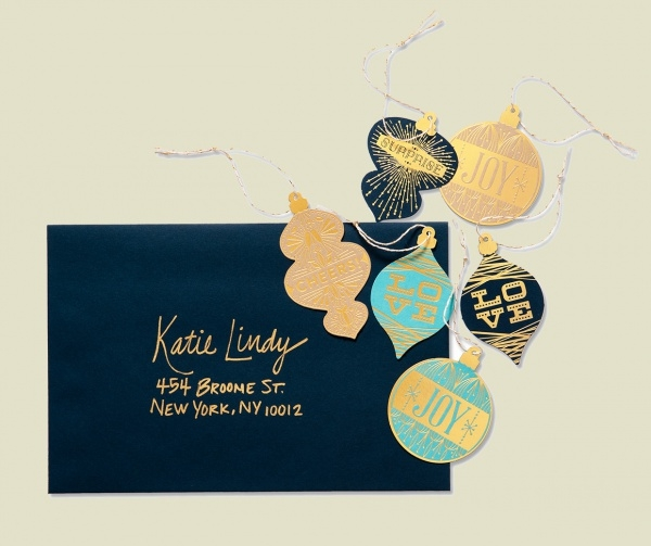 Gold Foil Diecut Gift Cards