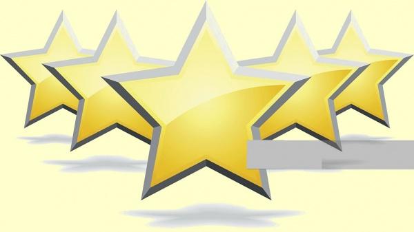 Golden Series Stars Clipart