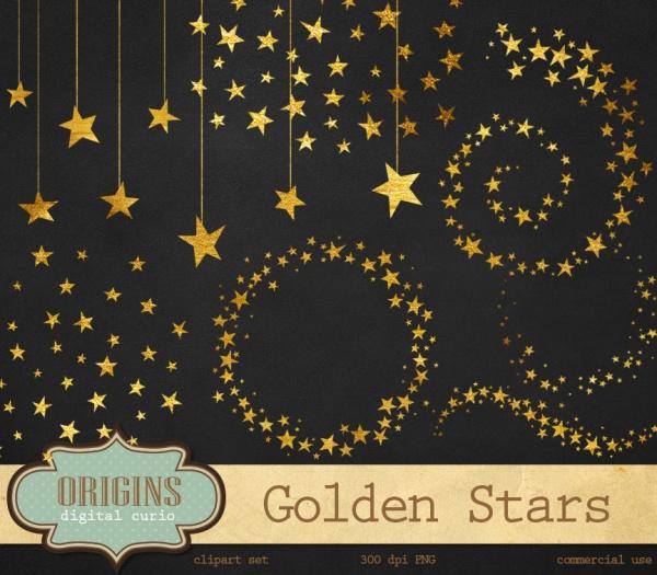 Golden Star Vector Clipart