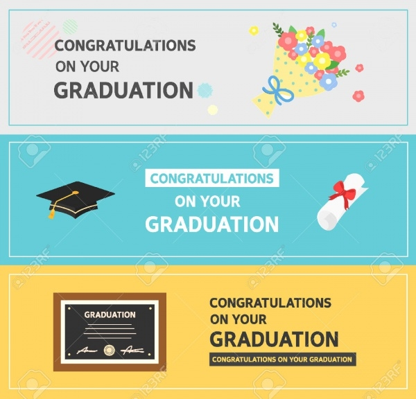 Graduation Horizontal Banner Design