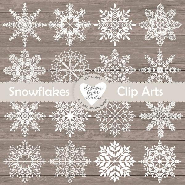 Graphic Rustic Snowflake Clip-art