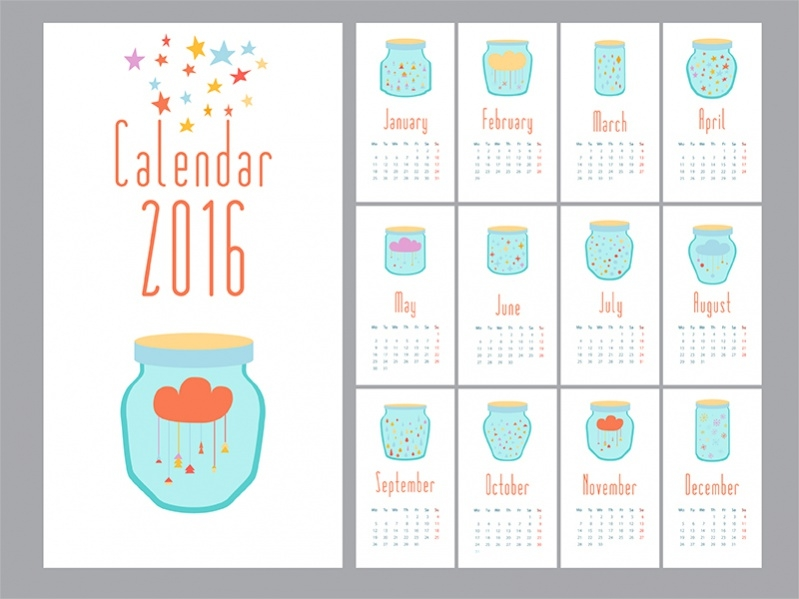 Graphic Year Calendar Design