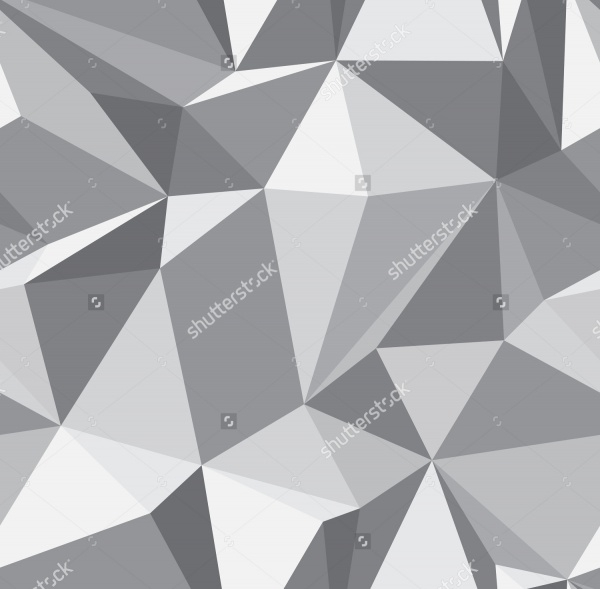 Gray Triangle Polygon Pattern