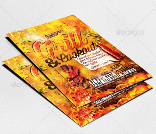 Grill & Cookout Flyer Template