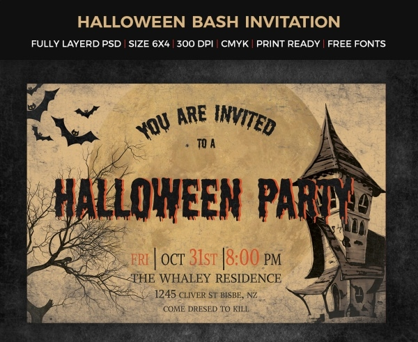 Scary Halloween invitation Design