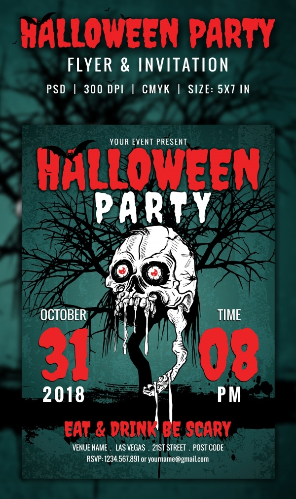Download Halloween Flyer for Free