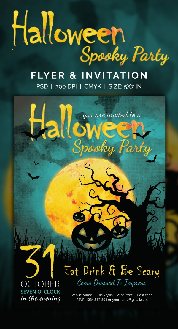 Halloween Spooky Party Flyer