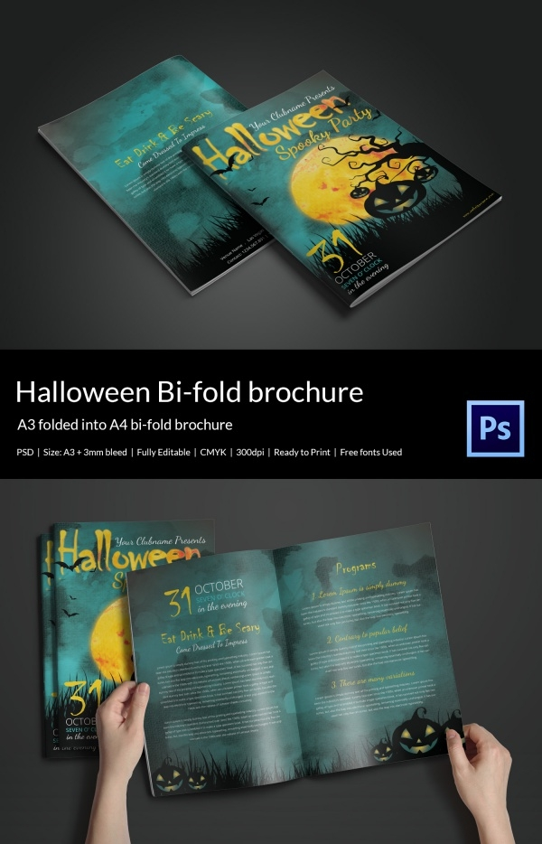 Halloween Bifold Brochure Design