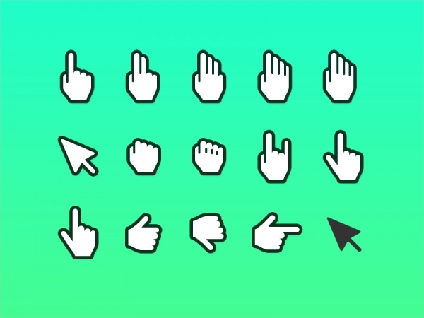 Hand Cursor Icon - Sketch & Photoshop