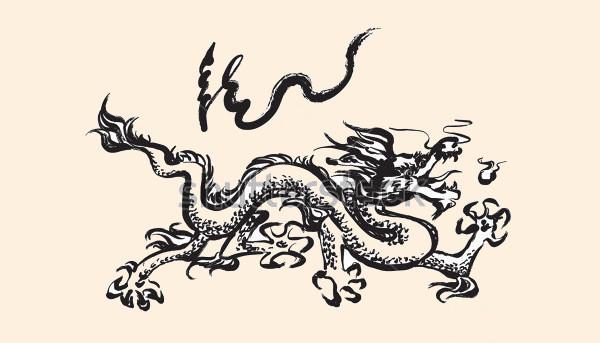 Hand Drawn Dragon Brushes