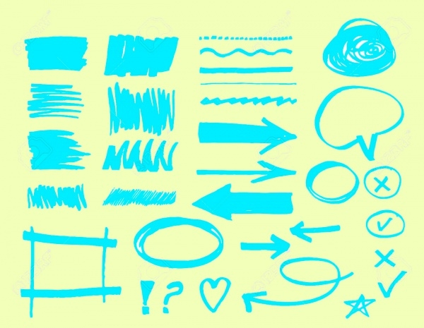 Hand Drawn Marker Brushes