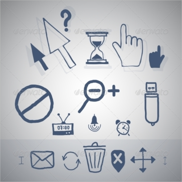 Handdrawn Cursor Icon Set