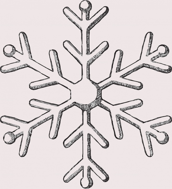 Sketch Snowflake Decorative Clip-art