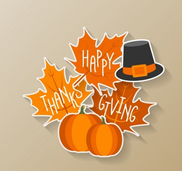 Happy Thanksgiving Sticker Clip-art