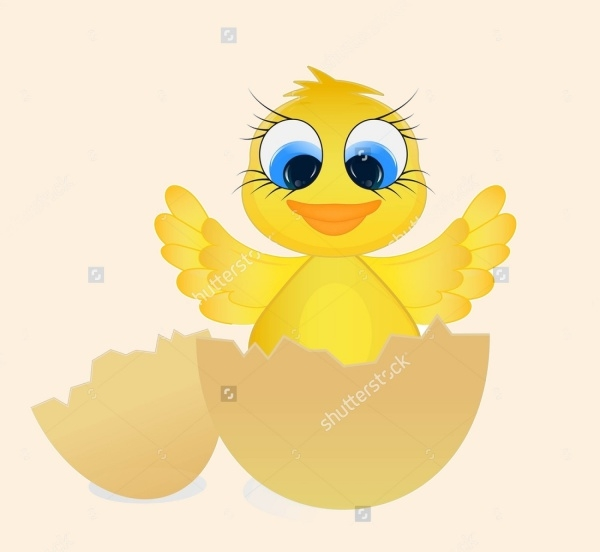 Hatched Egg Cartoon Clipart