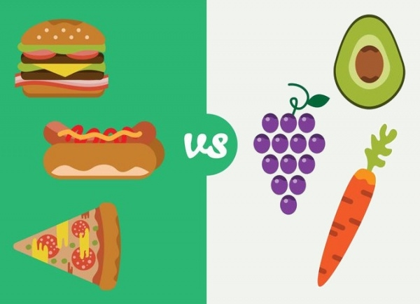 Healthy Food Clipart Design