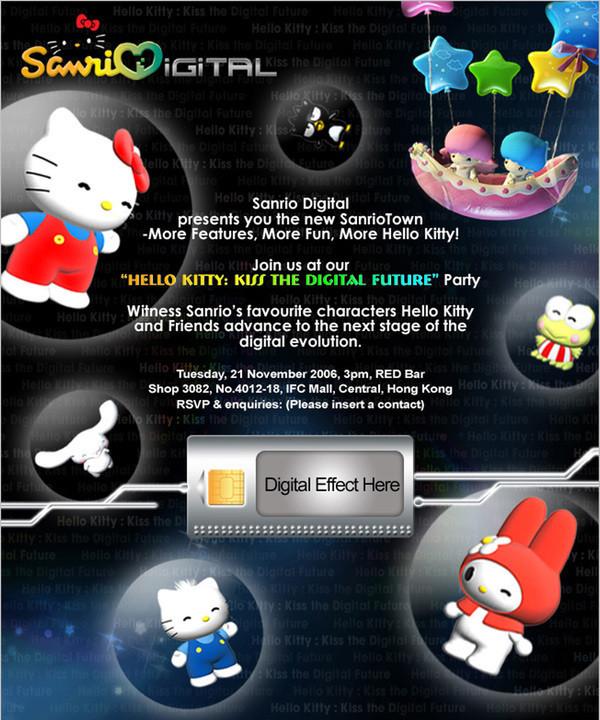 Hello Kitty Digital Future Invitation