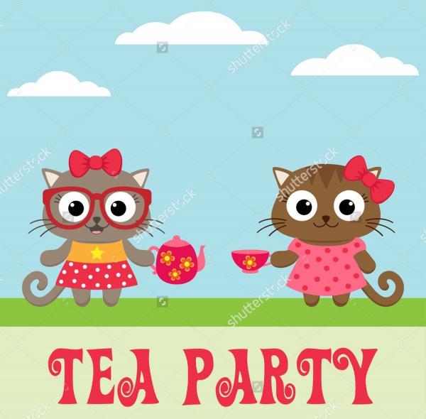 Hello Kitty Tea Party Invitation