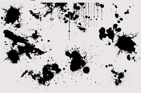 High Quality Paint Splatter Vector