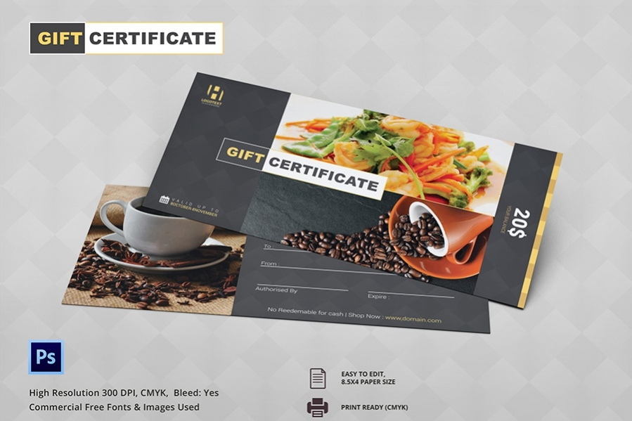 high quality spice up gift certificate
