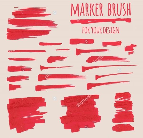 High Resolution Marker Brushes