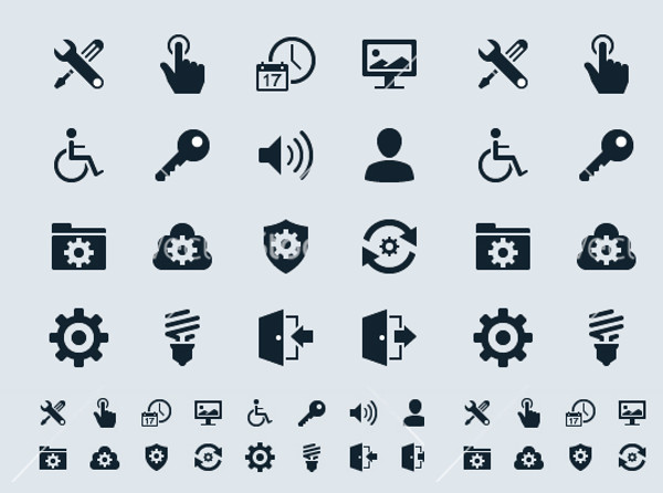 High Resolution Setting icons