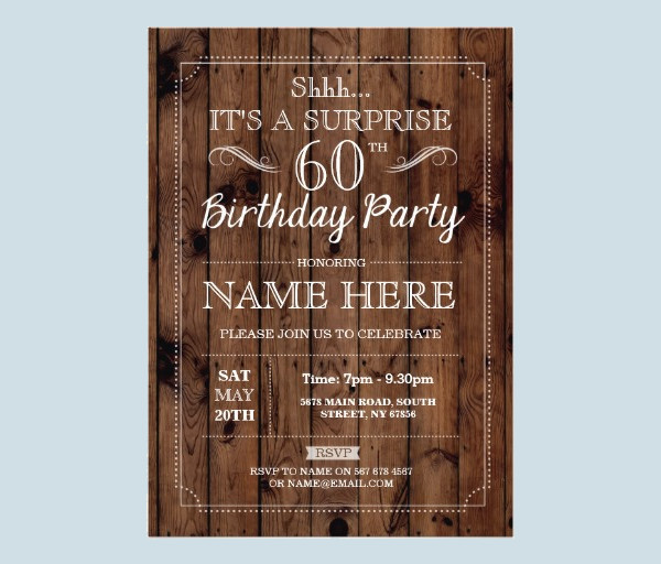 High Resolution Surprise Party Invitation