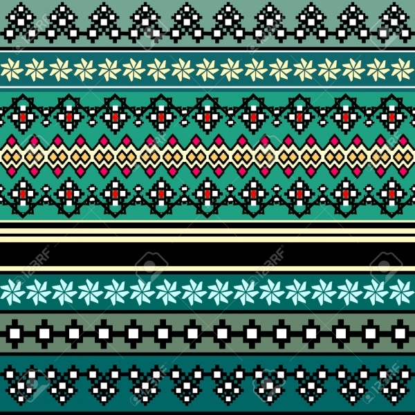 Highly Editable Bohemian Style Pattern