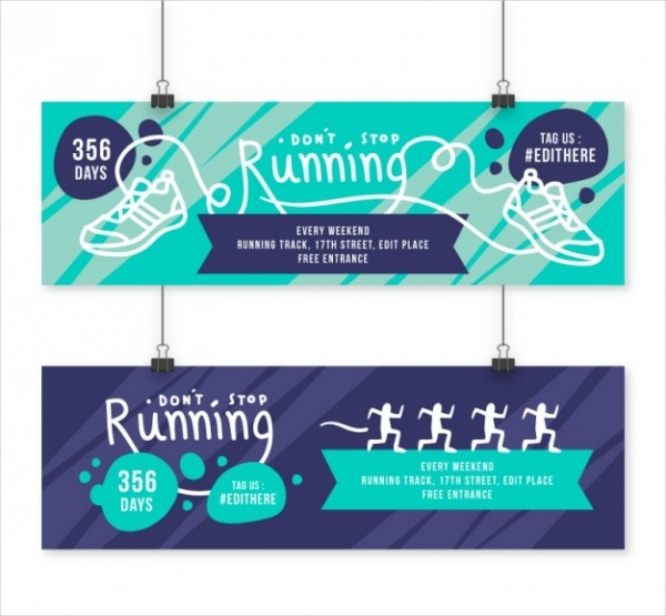Highly Editable Fitness banners