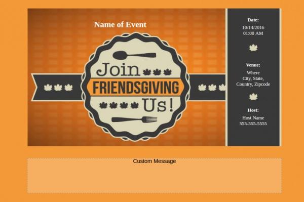 Highly Editable Friendsgiving Invitation
