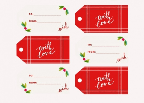 Holly Jolly Gift tags Designs