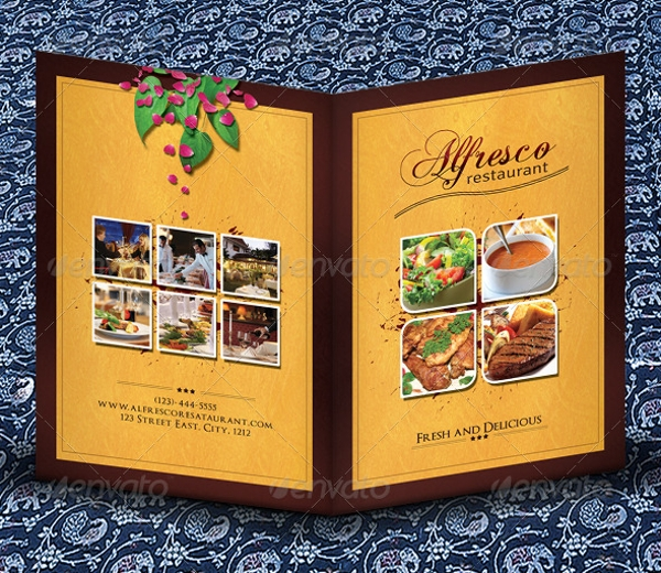 Hotel Menu Card Template