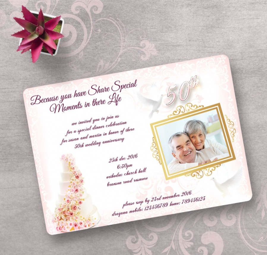 invitation template for marriage anniversary