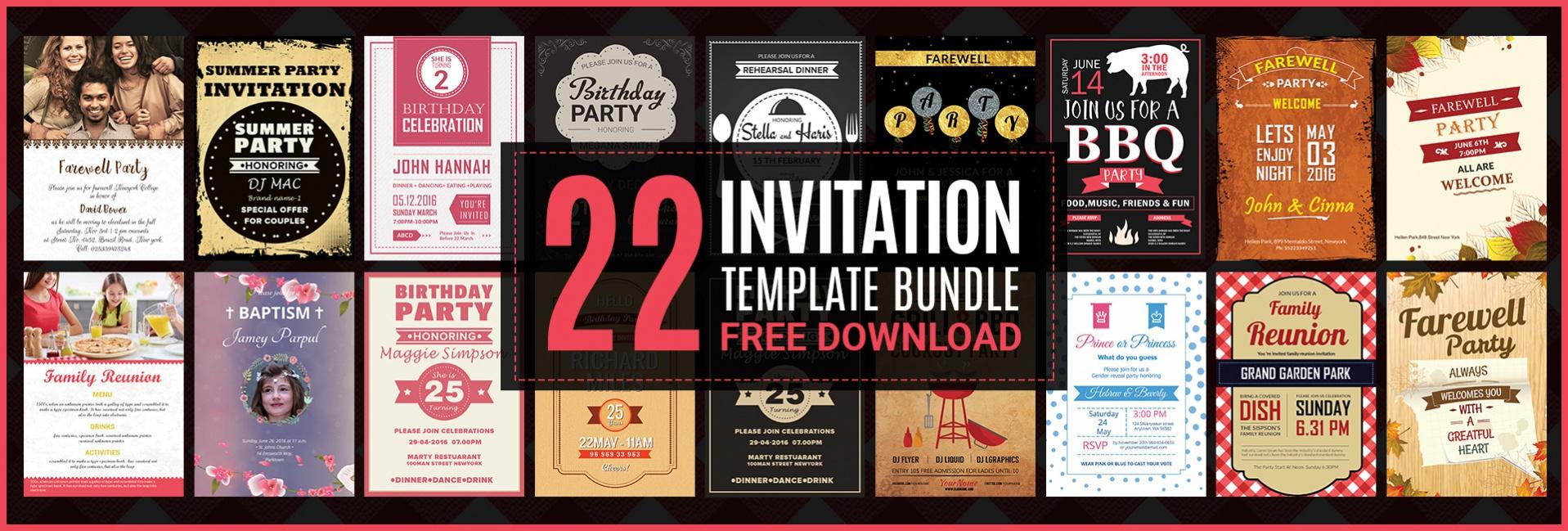 22+ Free Invitations (Birthday, Dinner, Reunion, BBQ) | Free ...