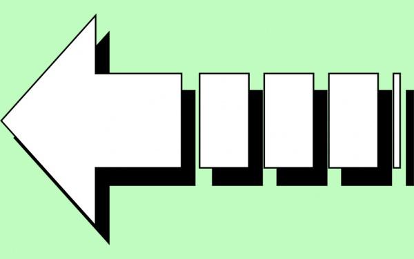 Isolated Arrow White illustration