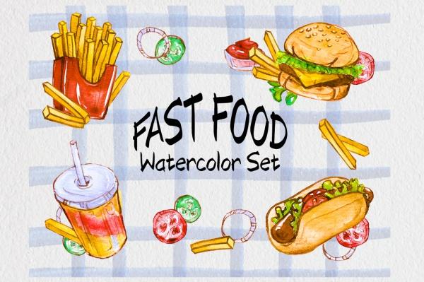Junk Food Clip Art Illustration