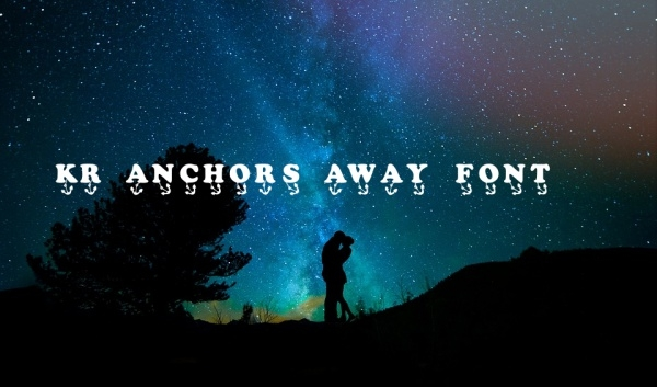 KR Anchors Away font