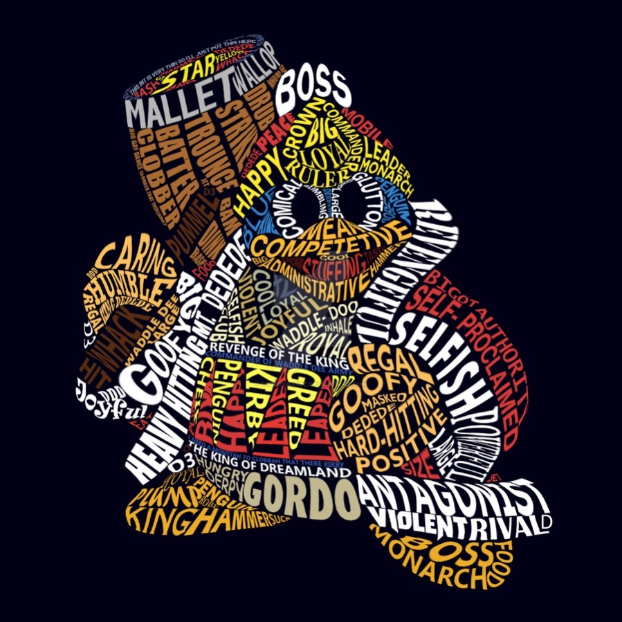 King Dedede Typography