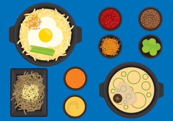 Korean Steamed Food CLipart